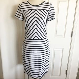 Banana Republic Striped comfy wear to work dress